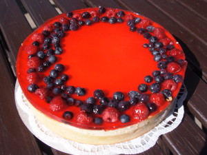 Cheesecake s ovocem
